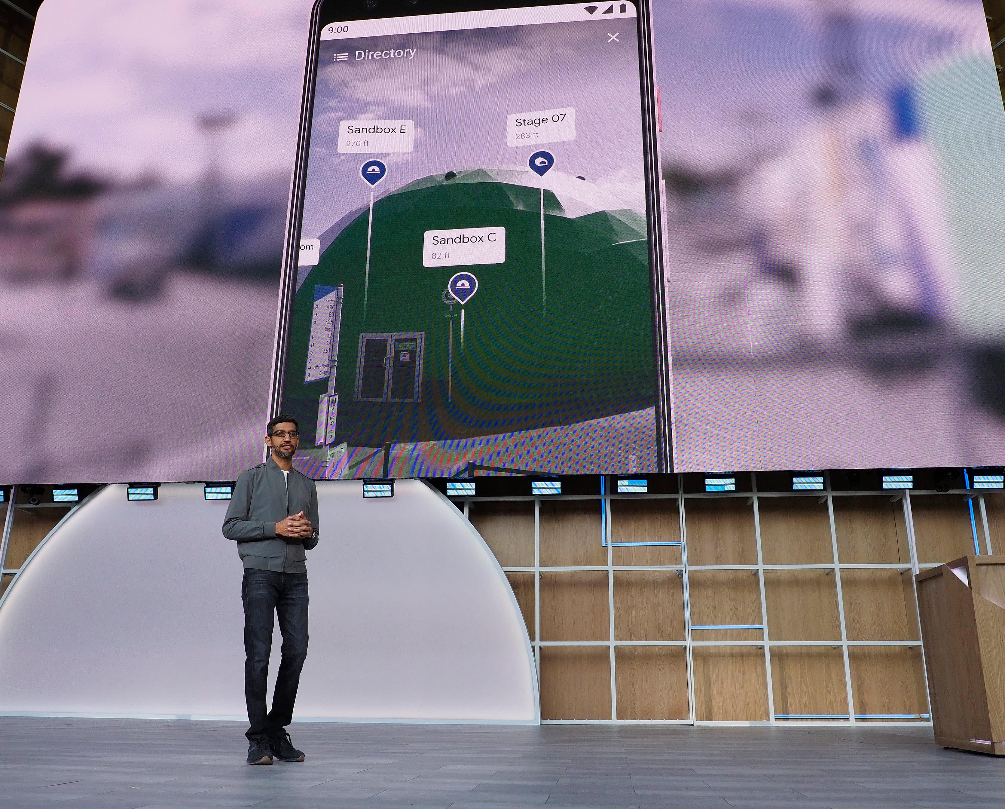 Googlen toimitusjohtaja Pichai Sundararajan esitteli uutuuksia yhtiön I/O-tapahtumassa tiistaina.