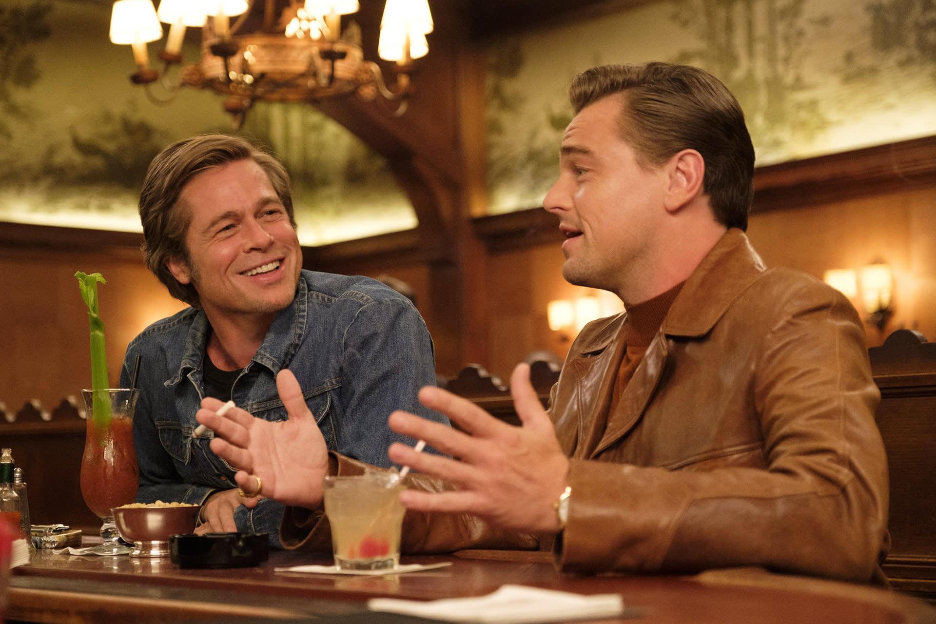 Brad Pitt ja Leonardo di Caprio.
