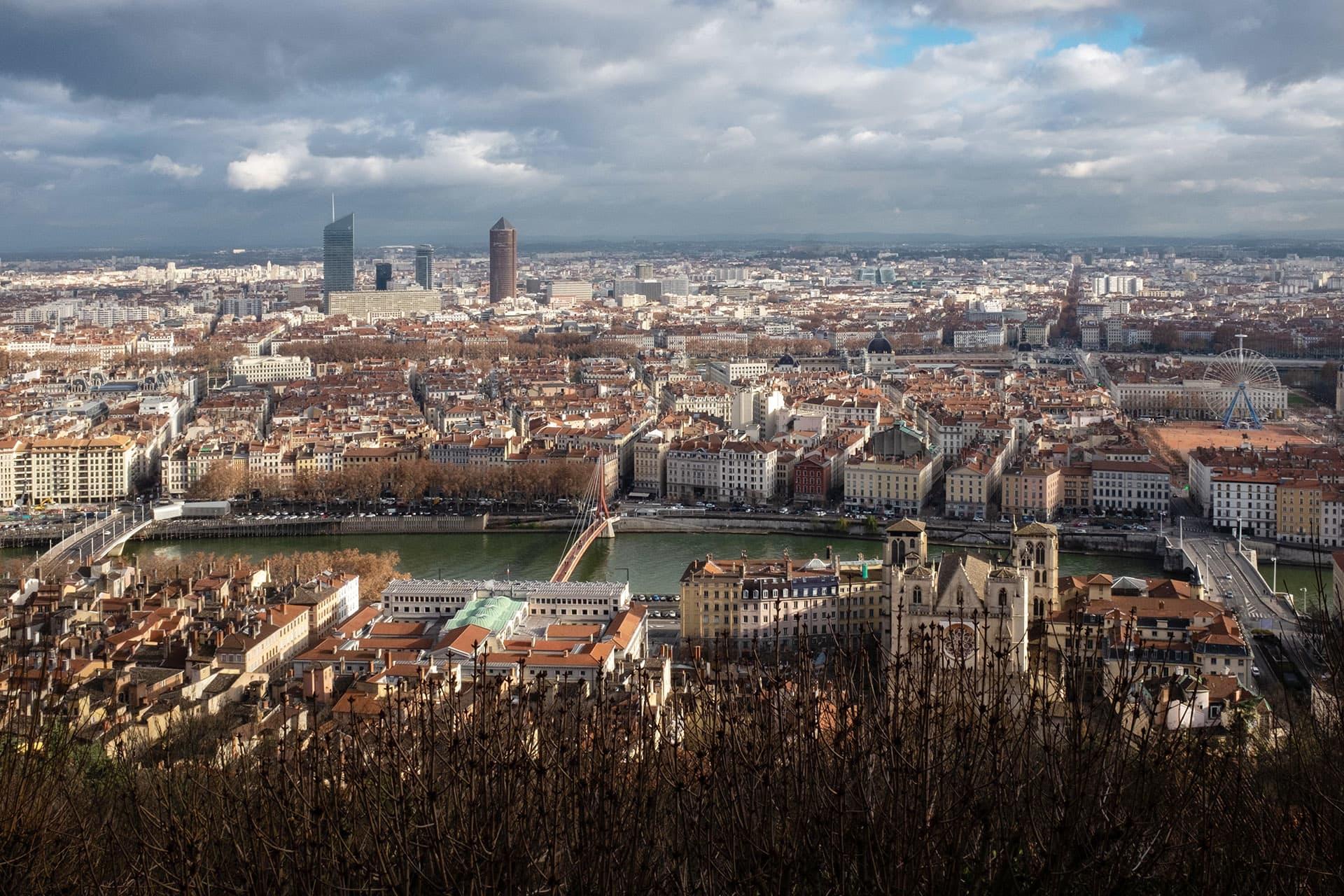 Näkymä Lyoniin