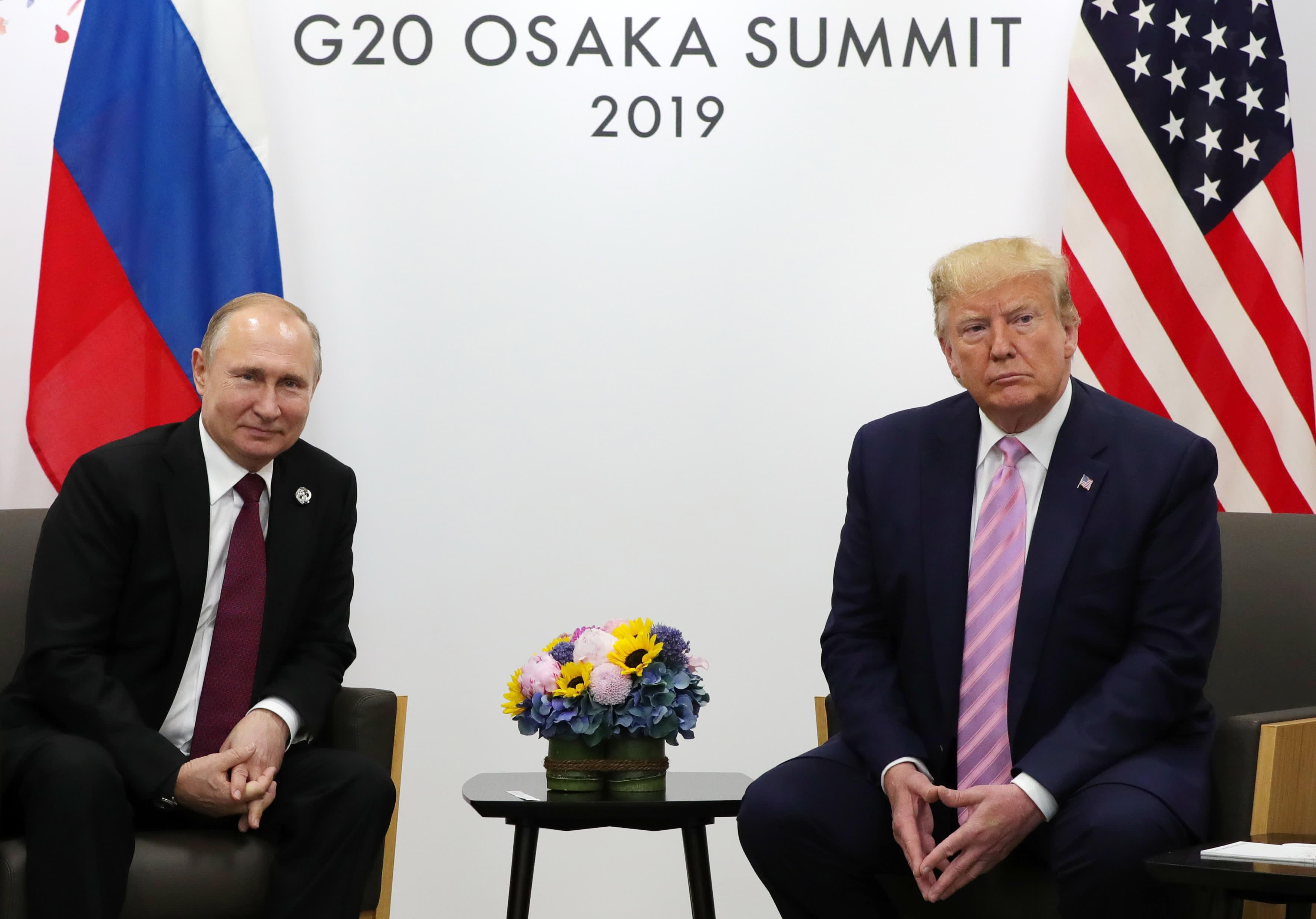 Venäjän presidentti Vladimir Putin ja Yhdysvaltojen presidentti Donald Trump tapasivat G20-kokouksen ohella 28. kesäkuuta.
