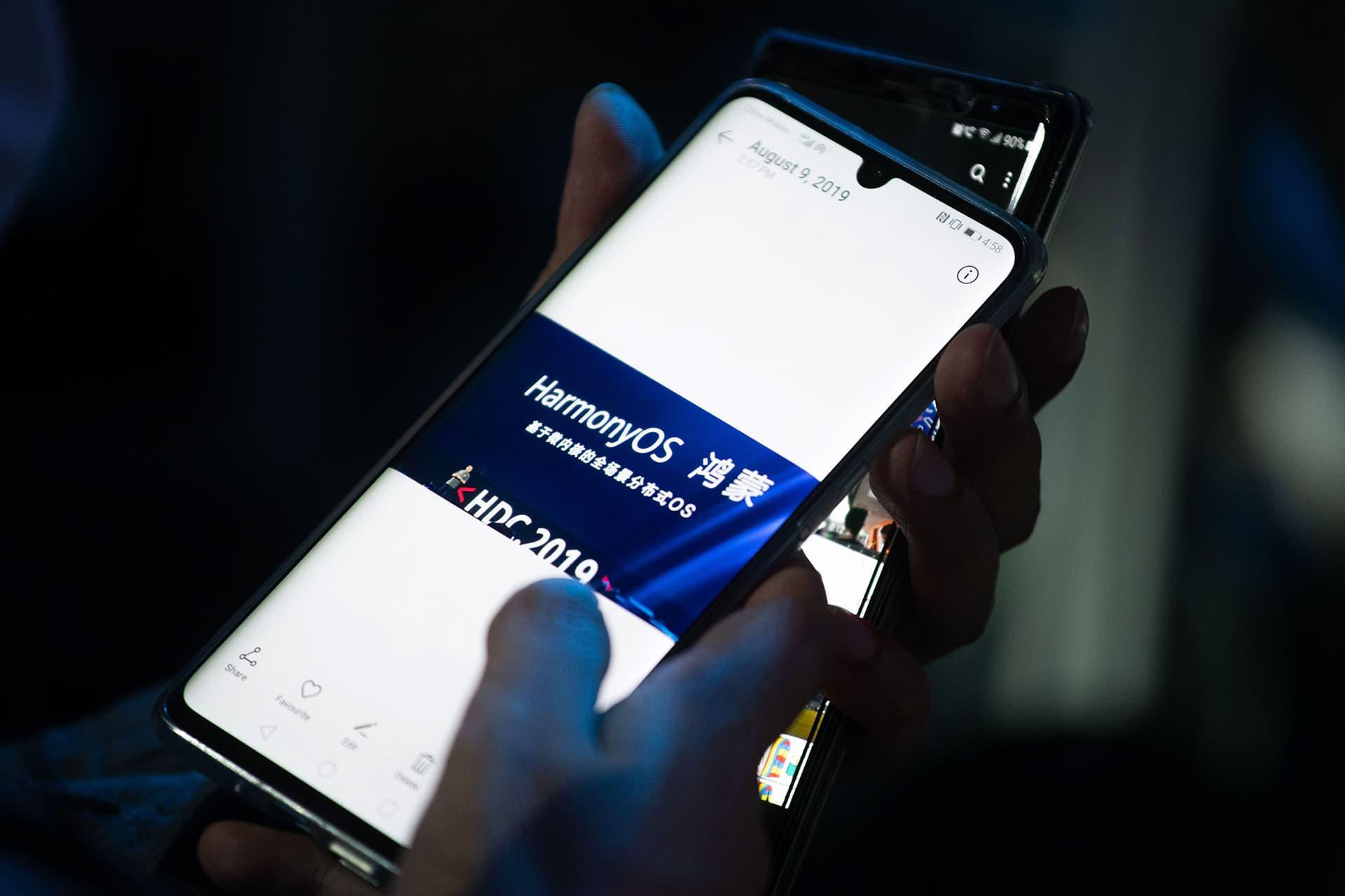 Huawei HarmonyOS  puhelimessa