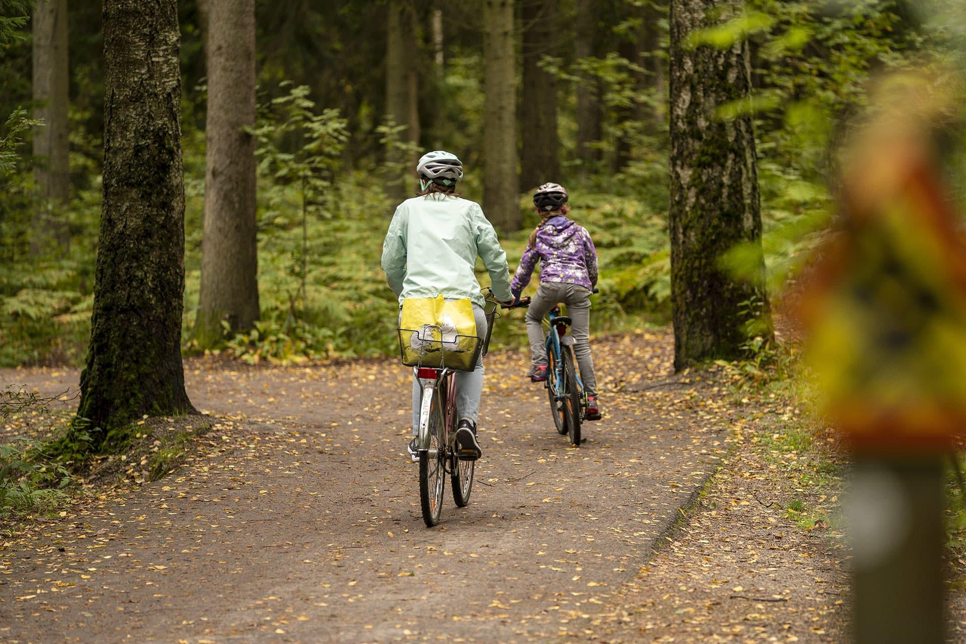 Pyöräilijöitä