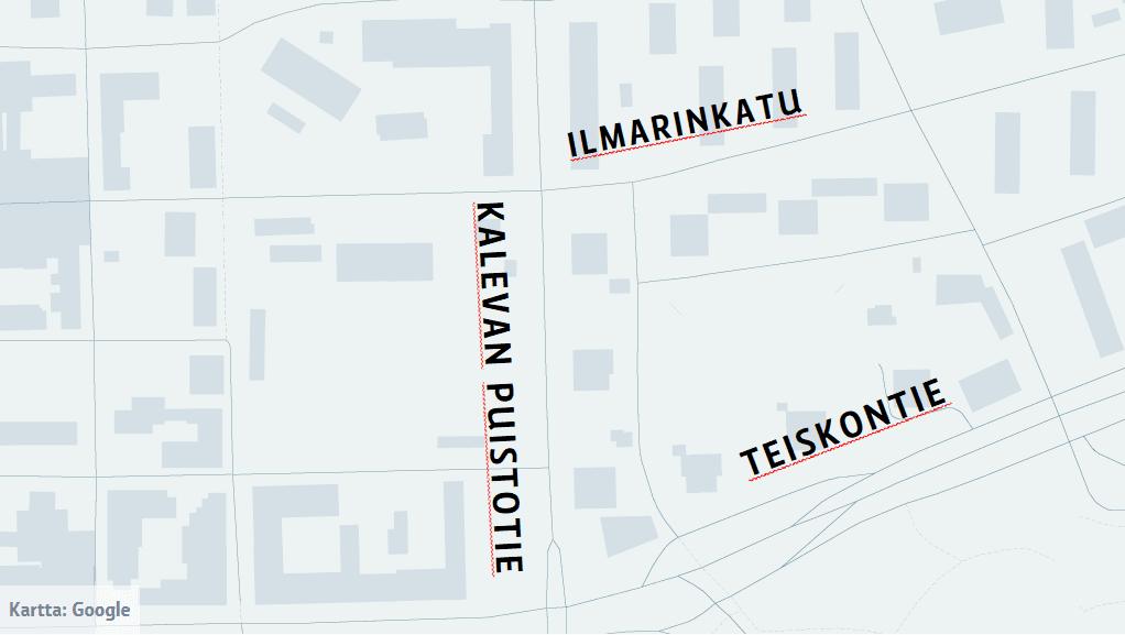 Kartta risteyksen sijainnista
