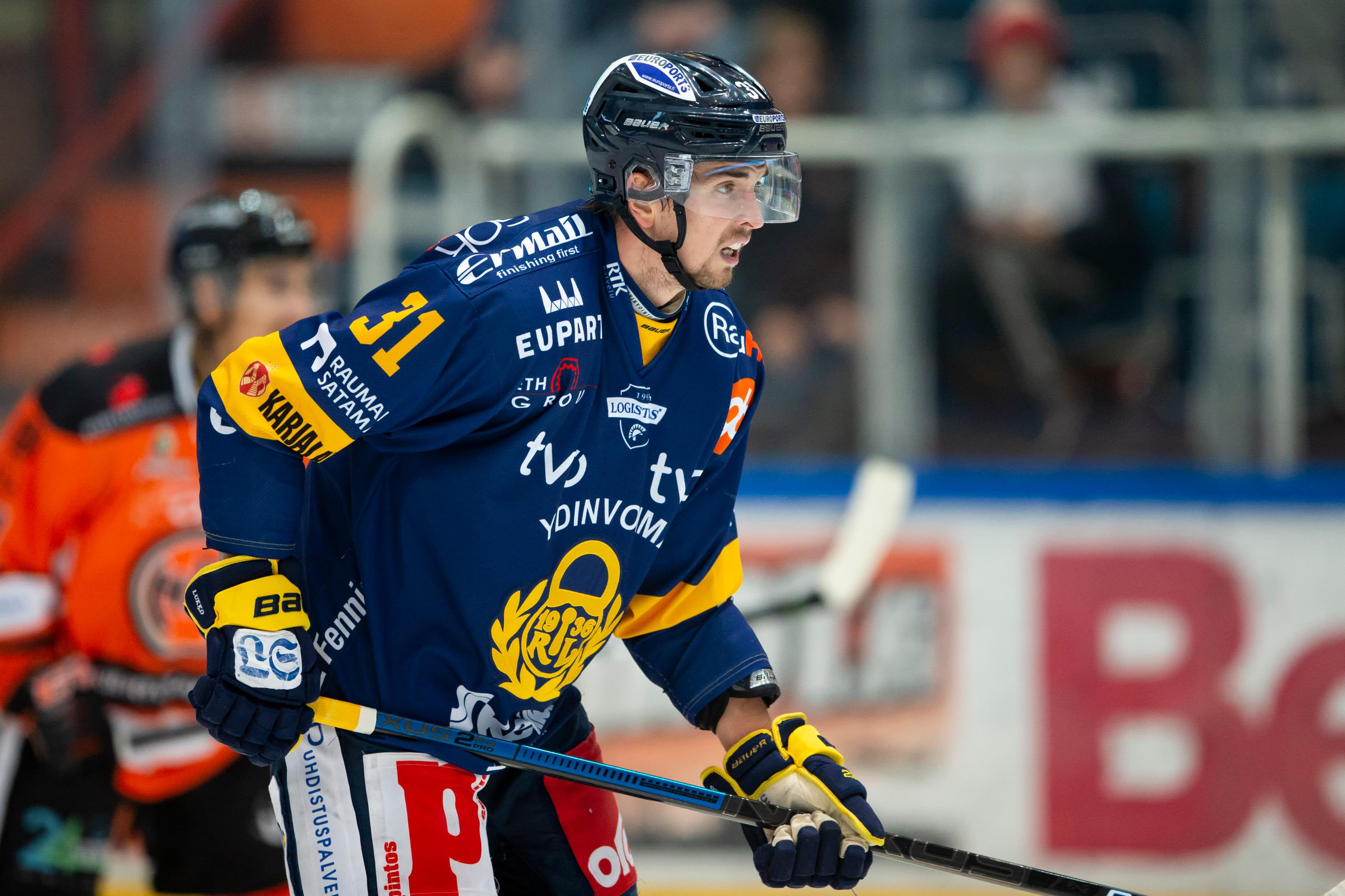 Eetu Koivistoinen oli Lukon parhaimmistoa Tapparaa vastaan.