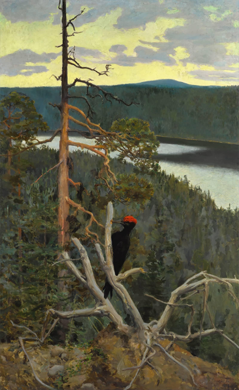 Gallen-Kallelan Palokärki -maalaus