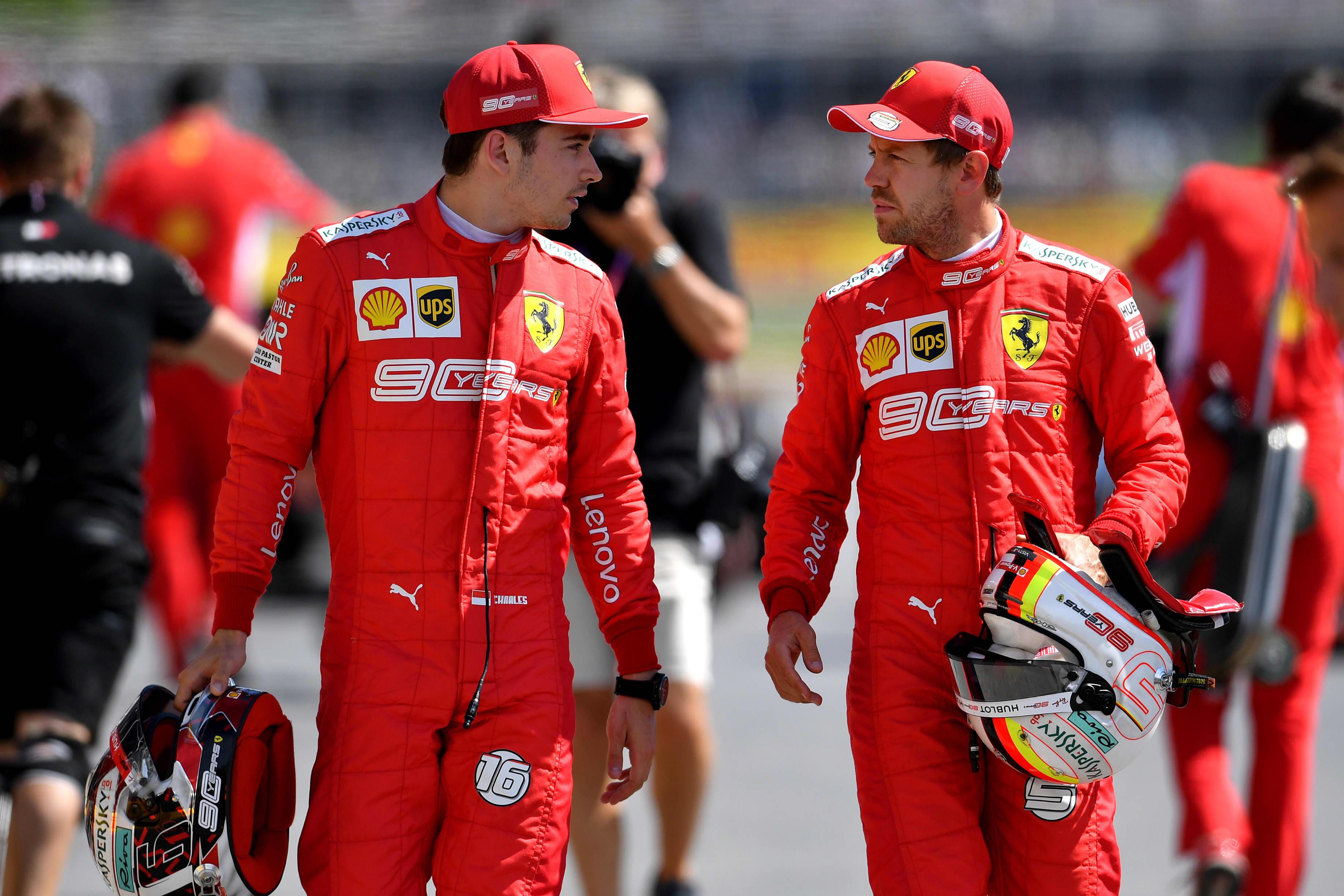 Charles Leclerc & Sebastian Vettel Ferrari