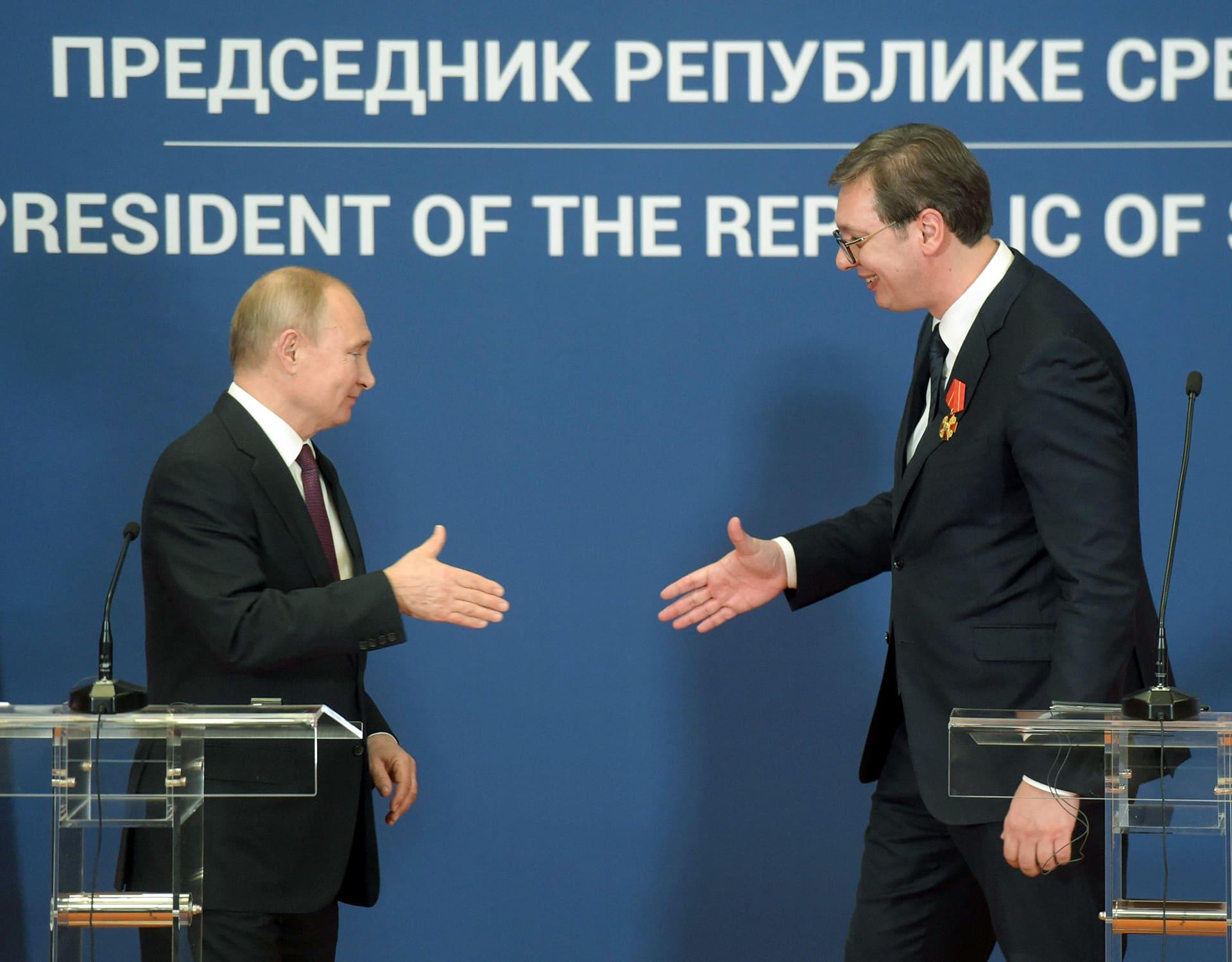 Vladimir Putin ja Aleksandar Vučić.