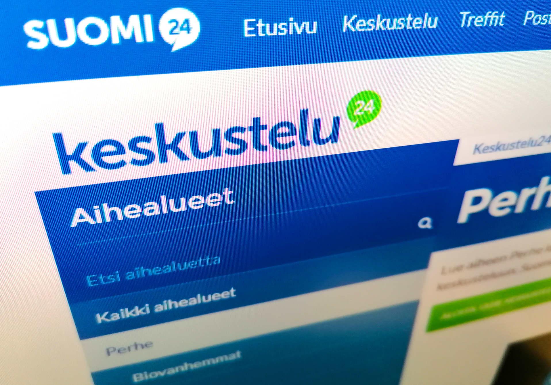 Suomi24 sivusto.