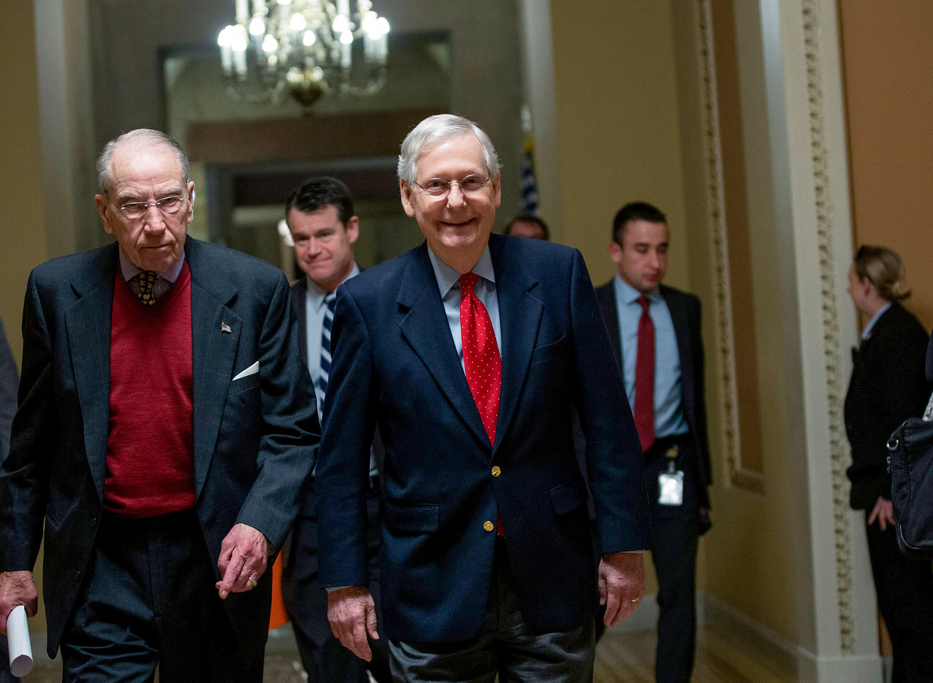 Senaattori Chuck Grassley ja Mitch McConnell