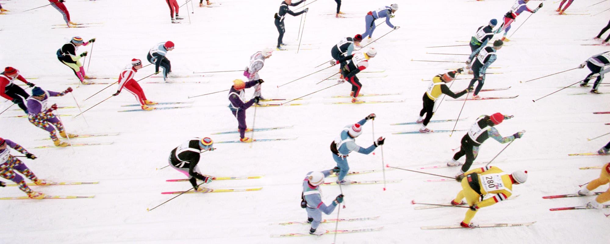 Finlandia-hiihto Lahdessa helmikuussa 1997.