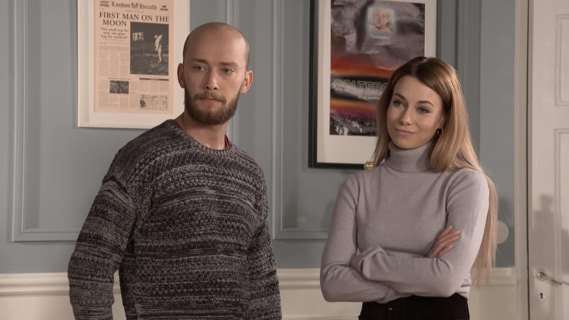 Emil Hallberg ja Kerttu Rissanen näyttelevät Salkkareissa.