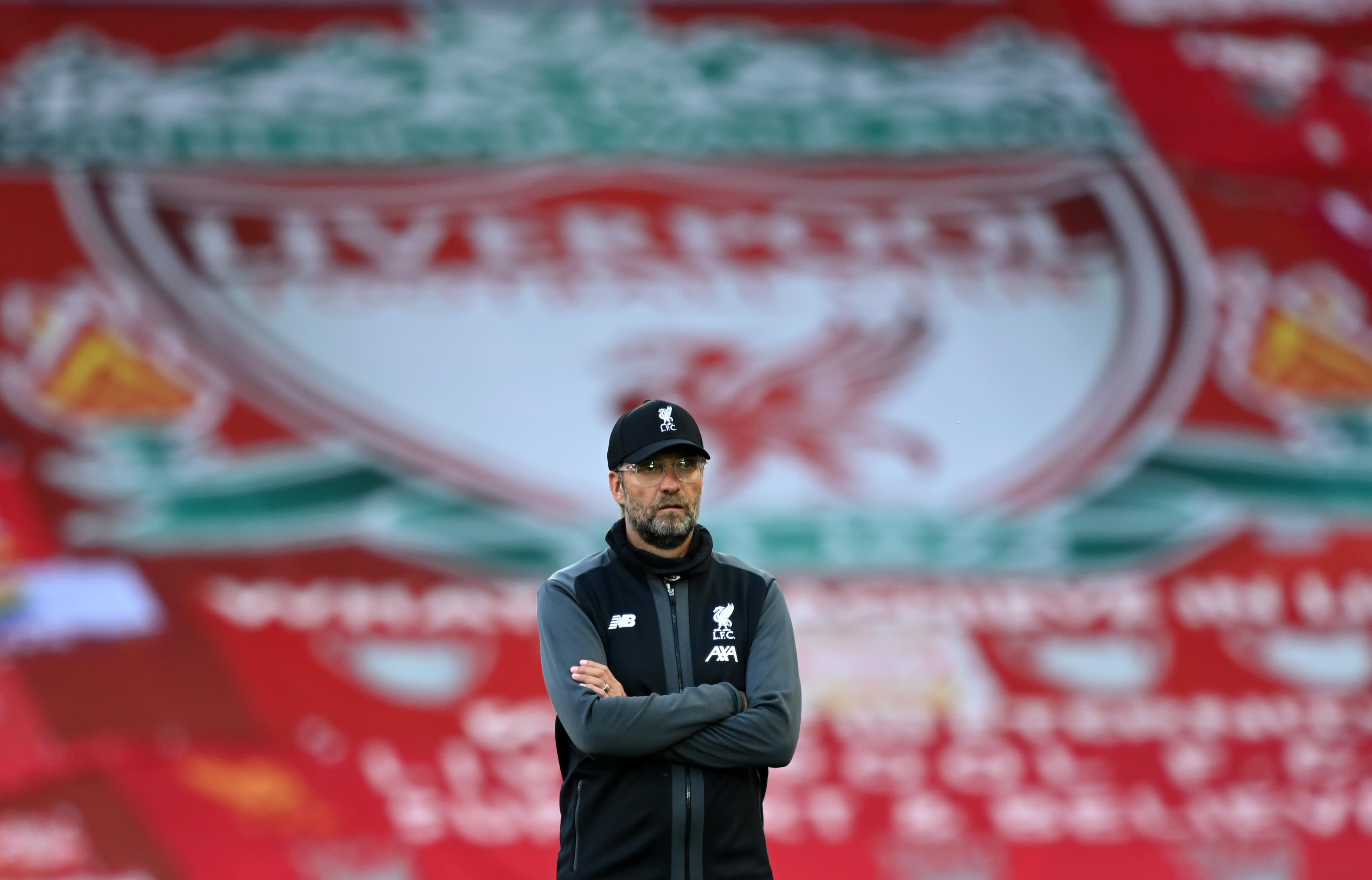 Liverpoolin päävalmentaja Jürgen Klopp kentän laidalla.
