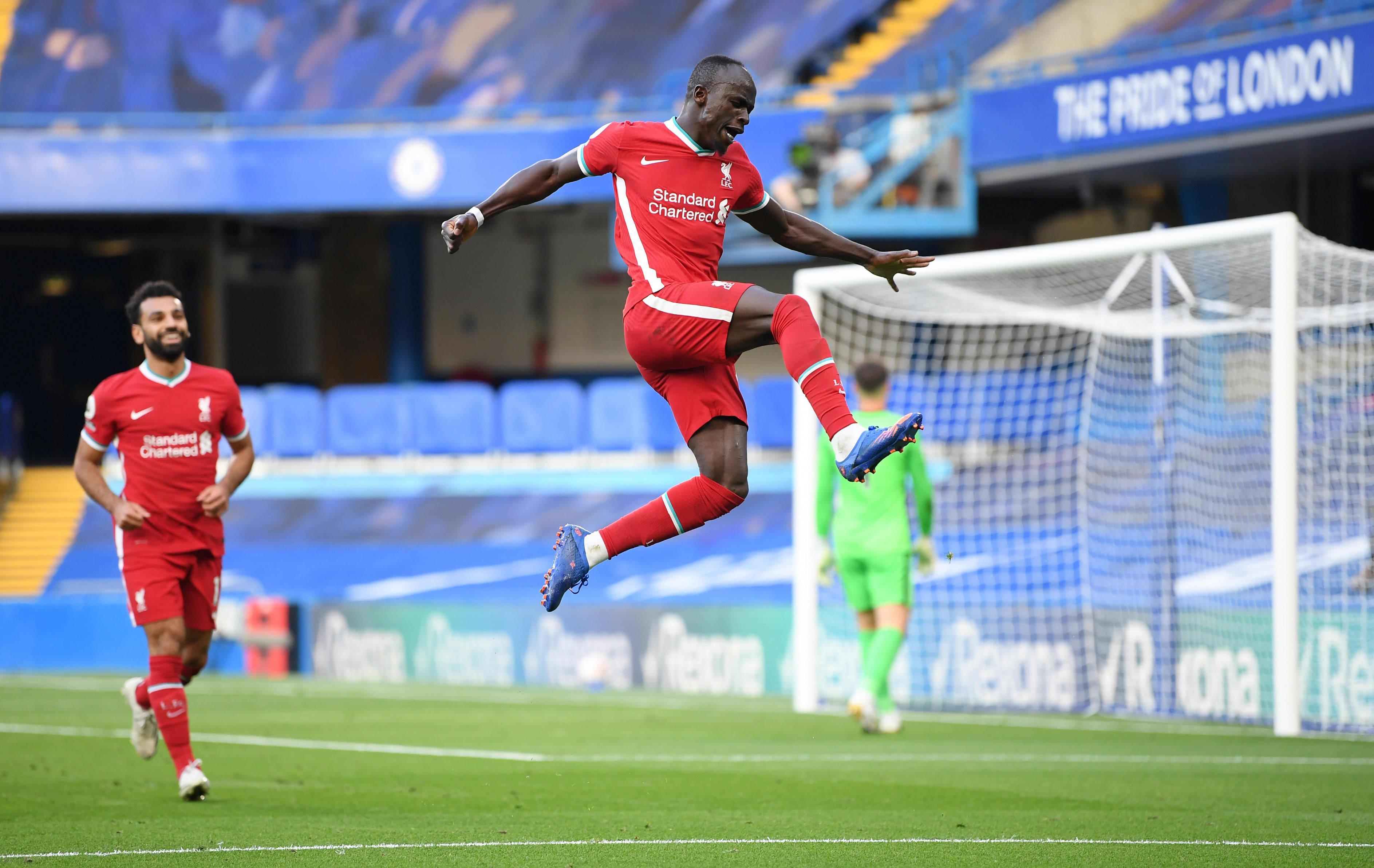 Sadio Mane oli Liverpoolin tehomies sunnuntaina.