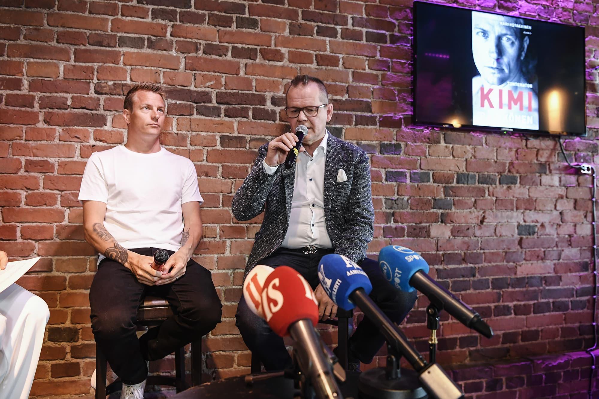 Tuntematon Kimi Räikkönen -kirjan julkaisutilaisuus kesäkuussa 2018.