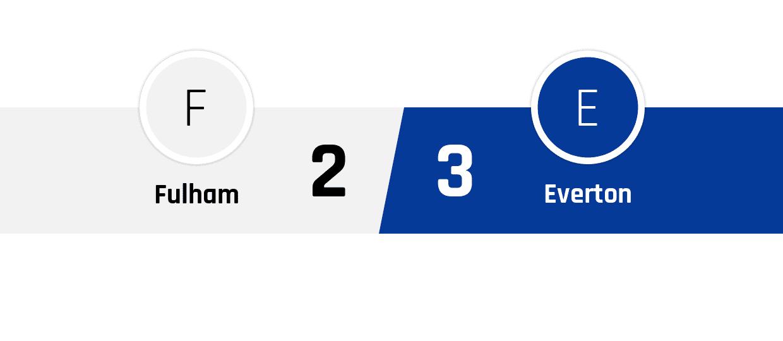 Fulham - Everton 2-3