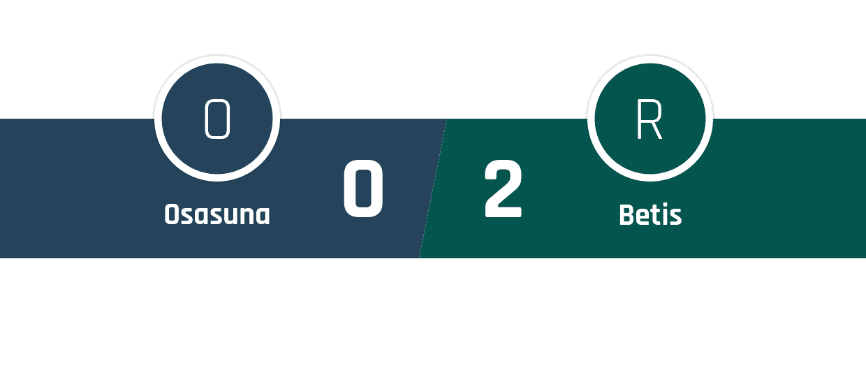 Osasuna - Real Betis 0-2