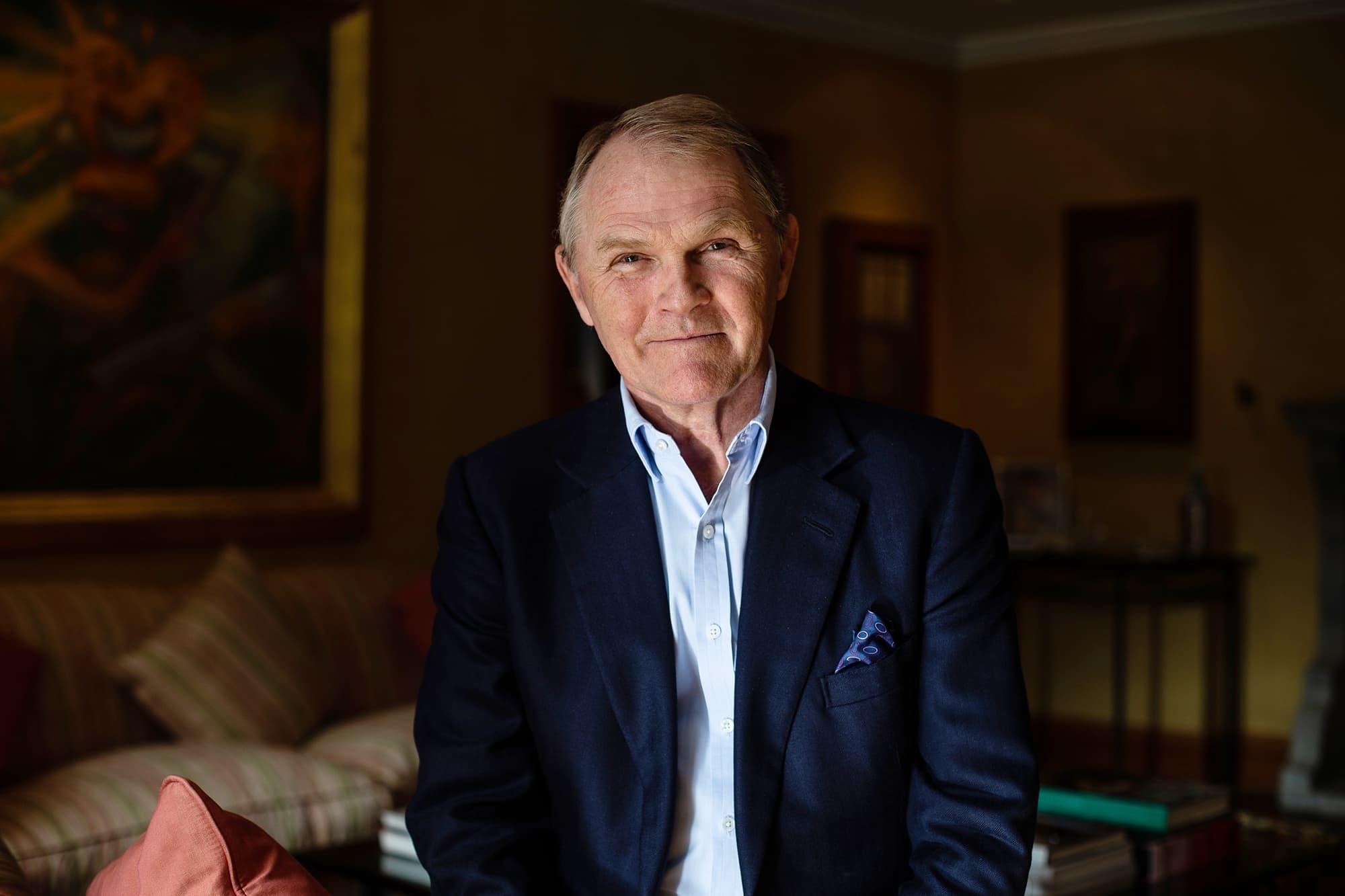 Kuvassa kunniakonsuli Christian Bjelland Oslossa.