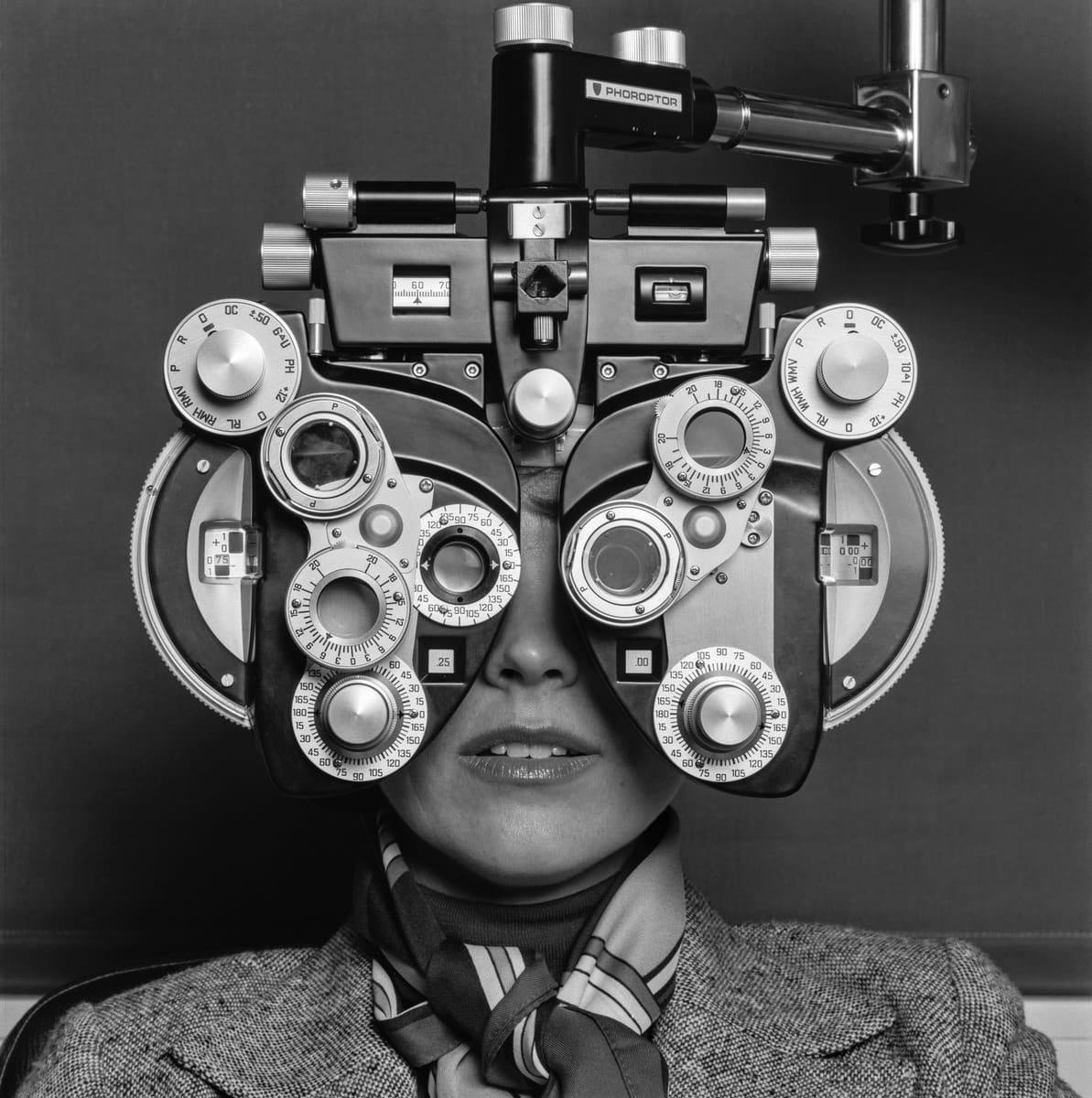 Näöntutkimus 1970-luvun lopussa.