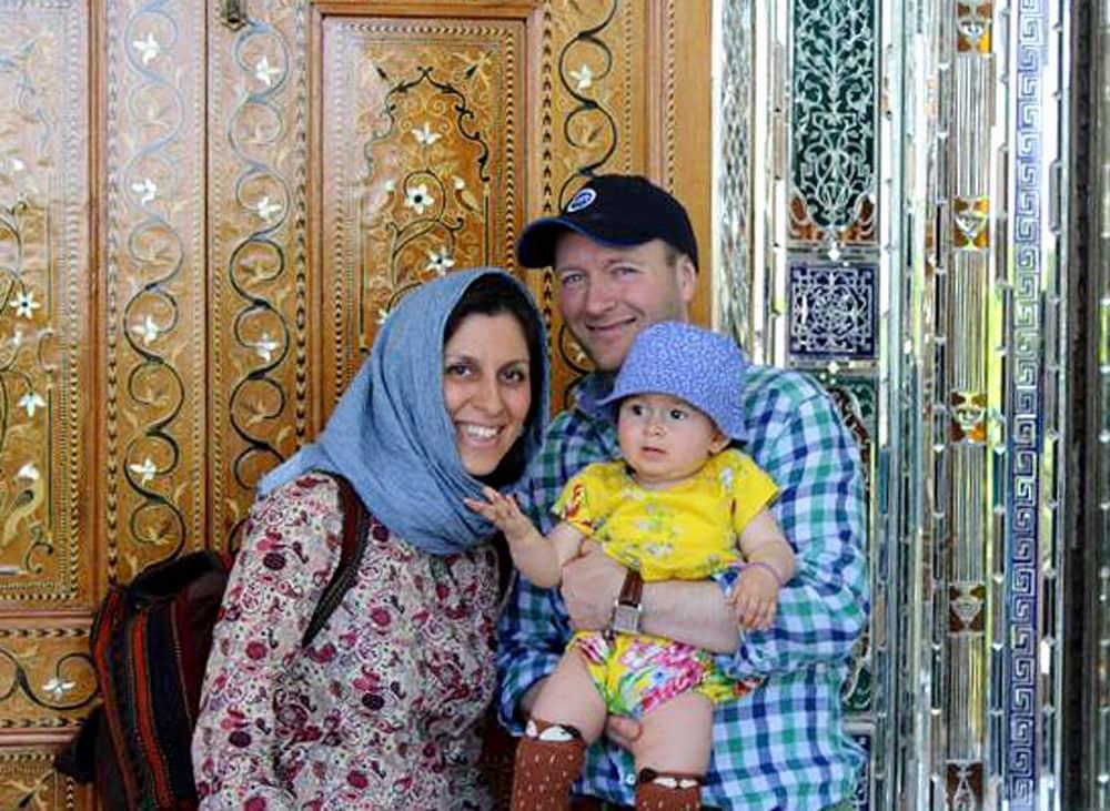 Nazanin Zaghari-Ratcliffe, Richard Ratcliffe ja tytär Gabriell.