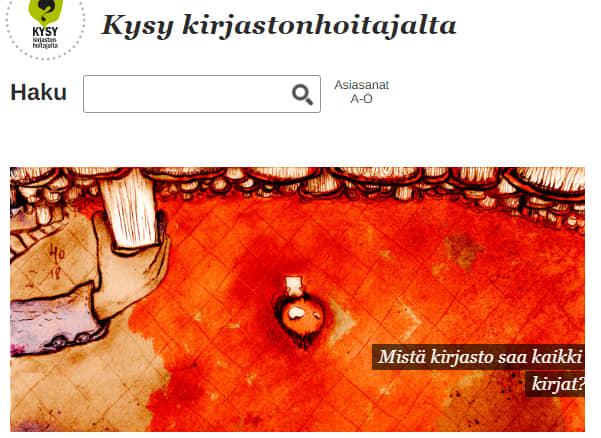 Ruutukaappaus kirjastot.fi/kysy.