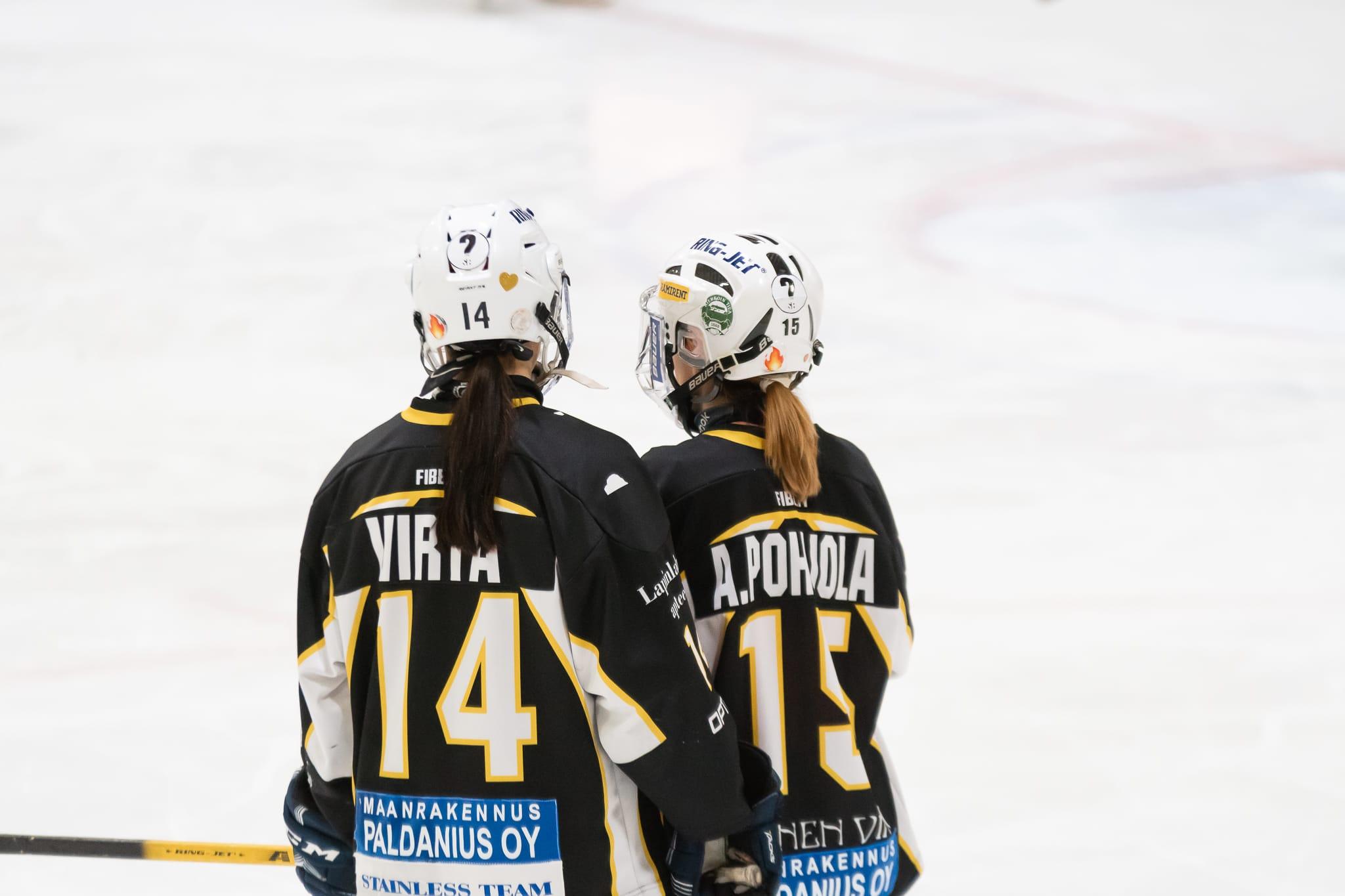 Marjukka Virta ja Anne Pohjola