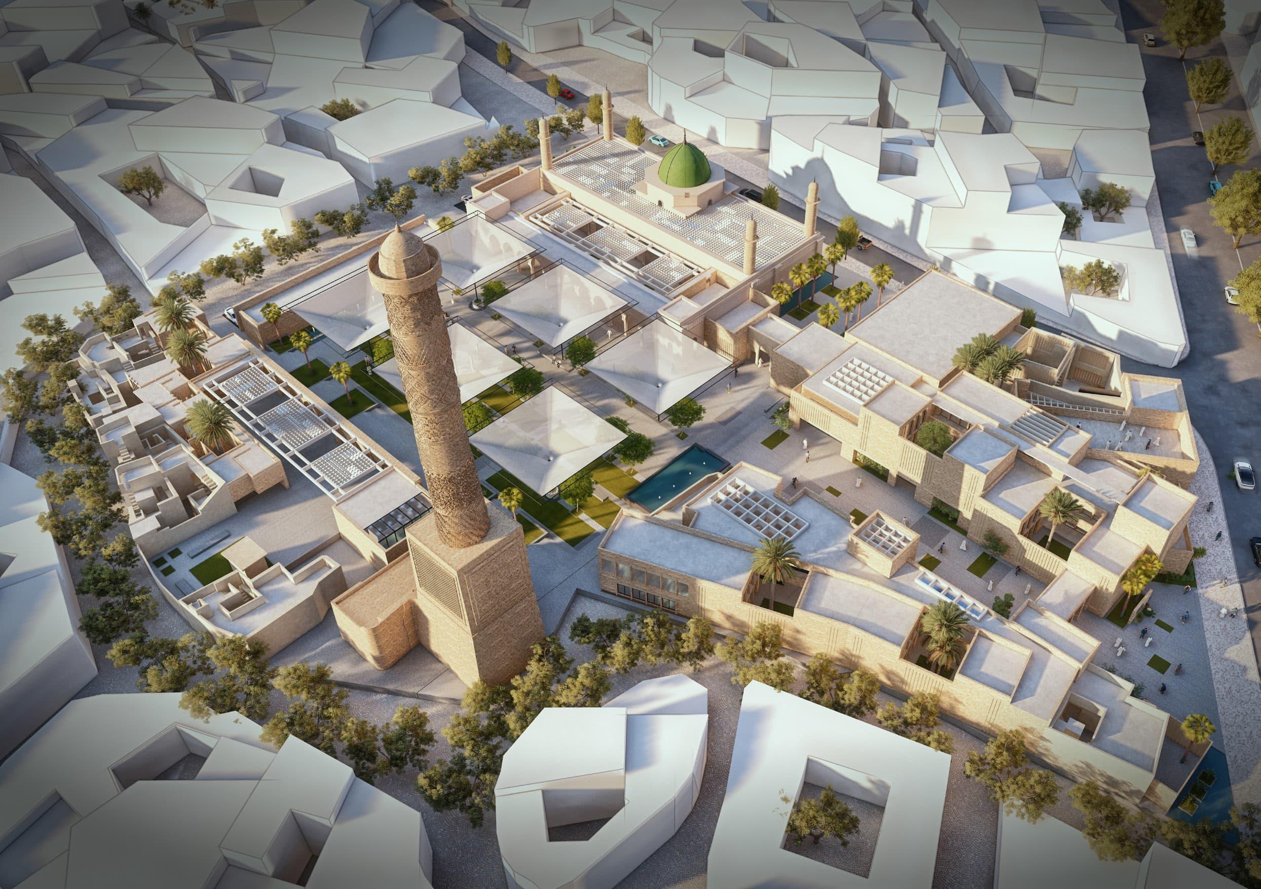 al-nurin uusi moskeija, mosul, irak, unesco arkkitehtikilpailu, voittaja: Salah El Din Samir Hareed & team