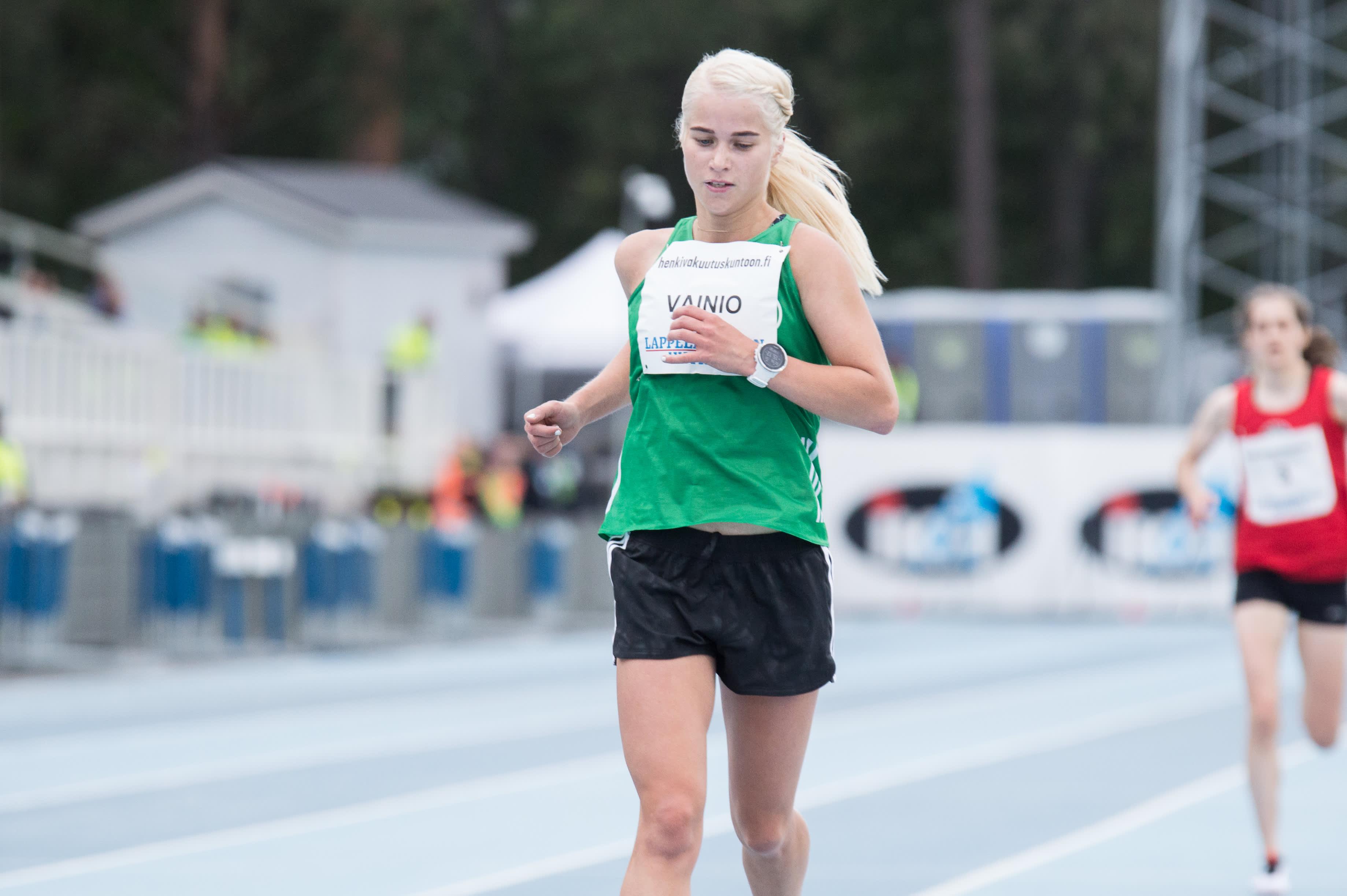 Alisa Vainio kilpaili kotikentällään Lappeenrannassa Kalevan kisoissa elokuussa 2019. Sen jälkeen tilillä on vain yksi startti, Dohan MM-maraton syyskuussa 2019.