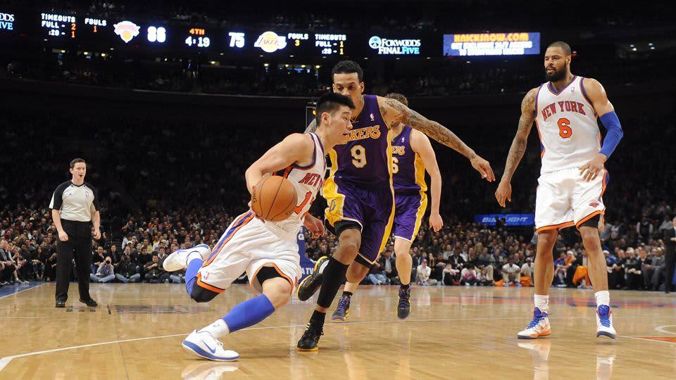 Jeremy Lin New York Knicks koripallo NBA 2012