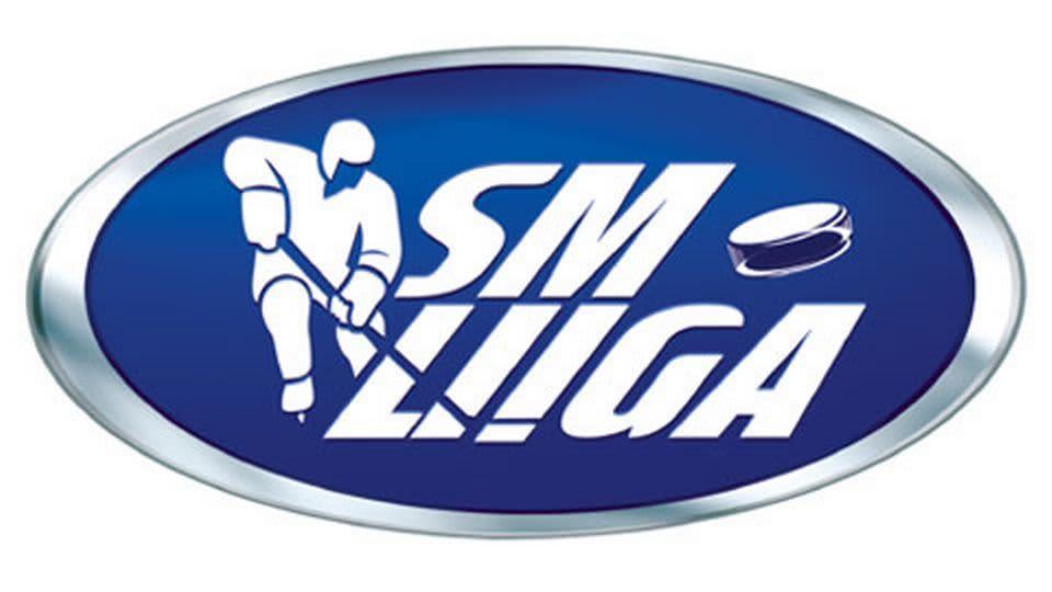Jääkiekon SM-liigan logo kuvassa