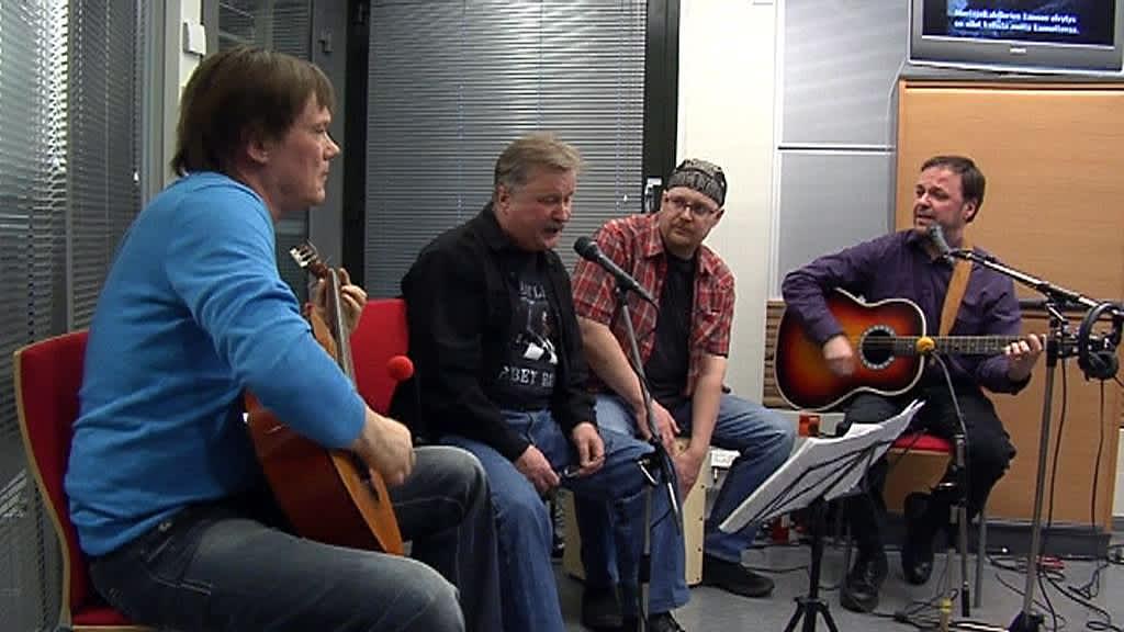 The Beatles Band YLE Oulun studiossa.