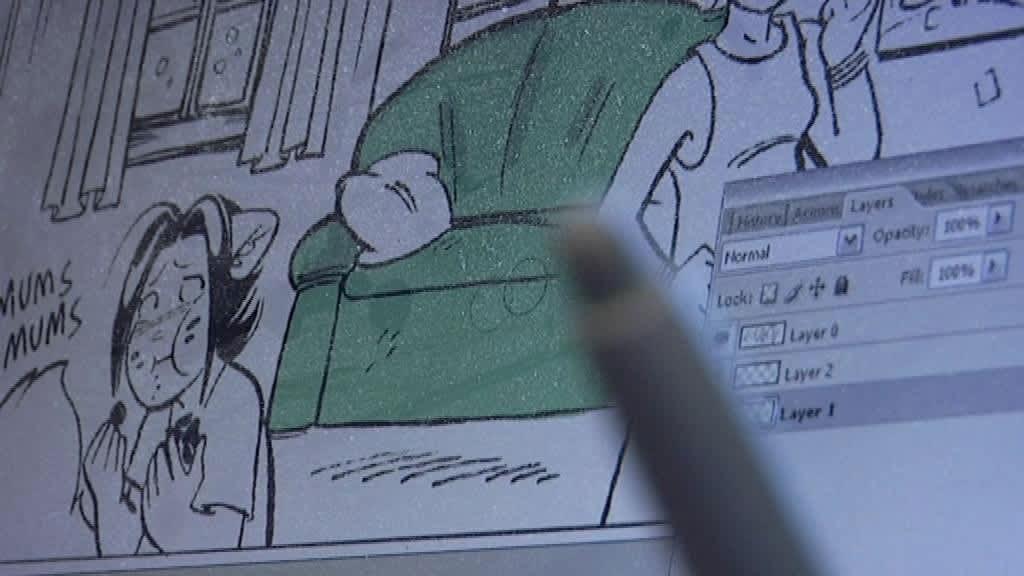 Kuva sarjakuvahahmo Nanna-ketusta.