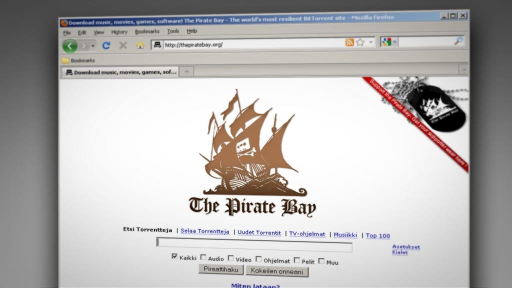 Pirate Bay -latauspalvelu