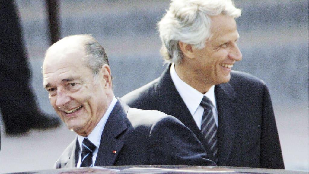 Jacques Chirac ja Dominique de Villepin