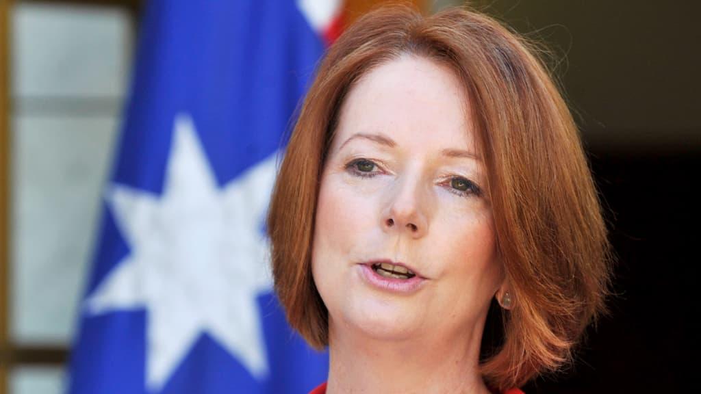 Australian pääministeri Julia Gillard.
