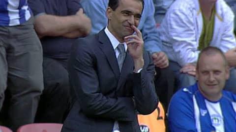 Roberto Martinez mietteliäänä.