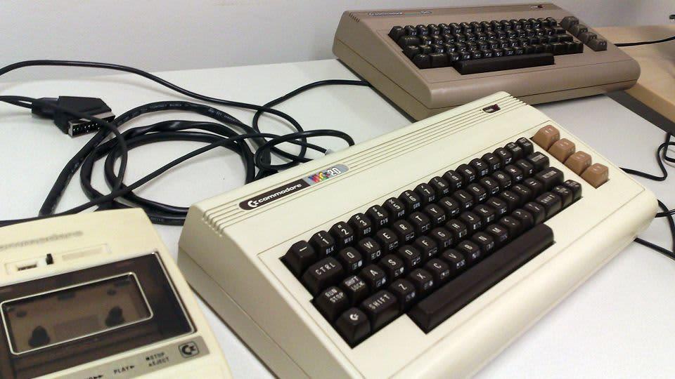 Commodore 64 -tietokonepeli pelimuseossa.