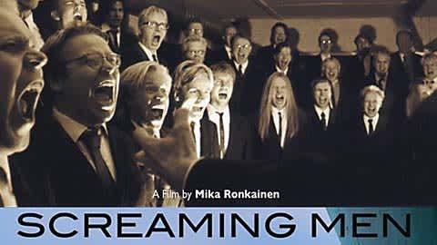 Screaming men -dokumenttielokuvan kansikuva.