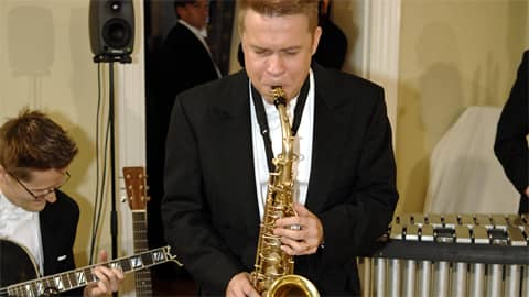 Saksofonisti Jukka Perko.