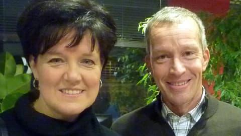 Jaana Hyövelä ja Petri Vuorinen