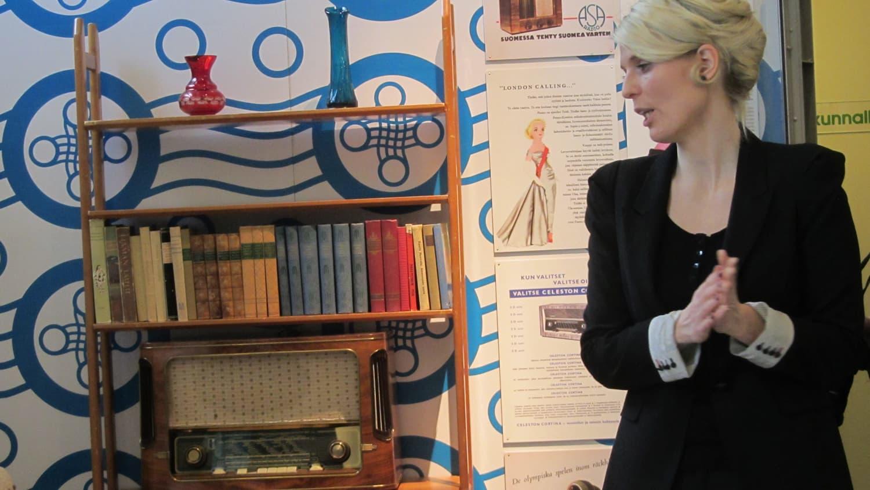 Lahden Radio- ja tv-museon näyttely radiomuotoilusta