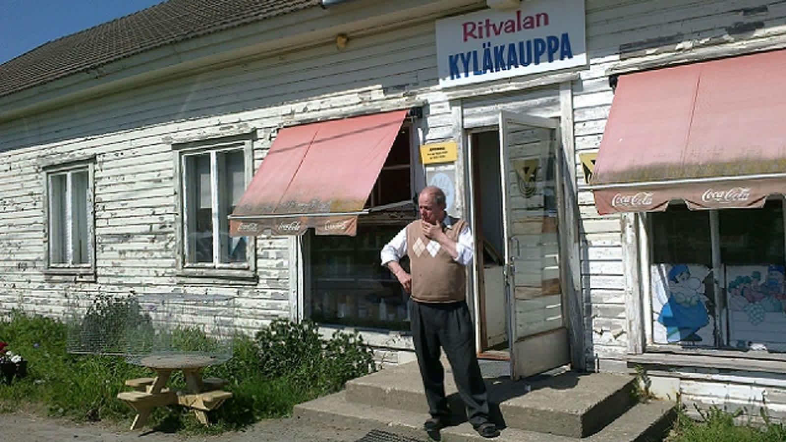 Ritvalan kyläkauppa ja kauppias Heikki Sipilä
