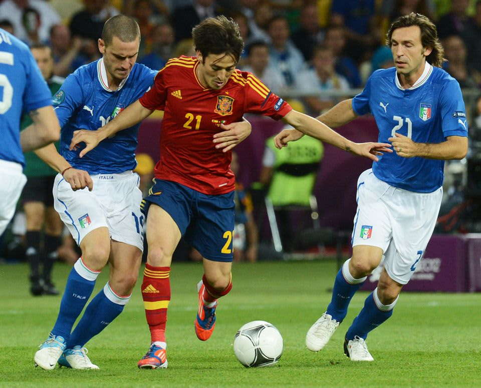 Silva Bonucci Pirlo Espanja Italia