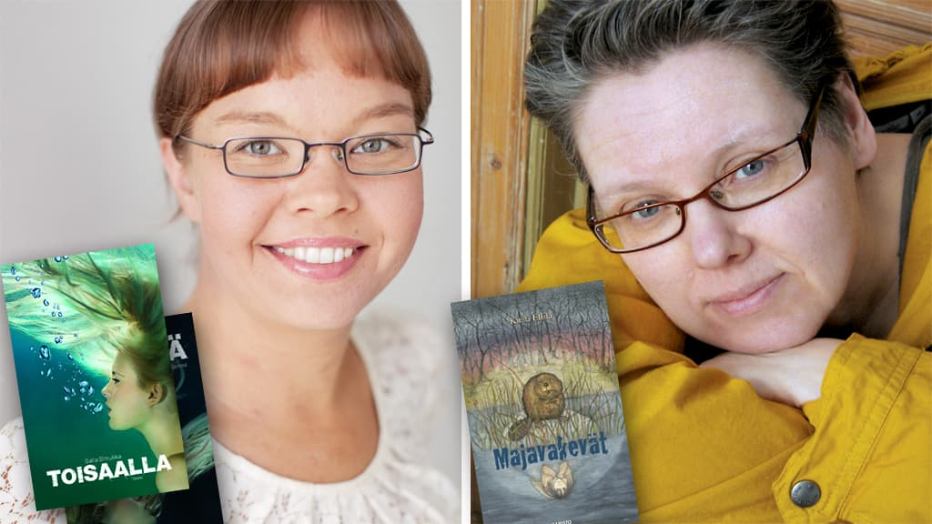 Salla Simukka ja Kirsti Ellilä.