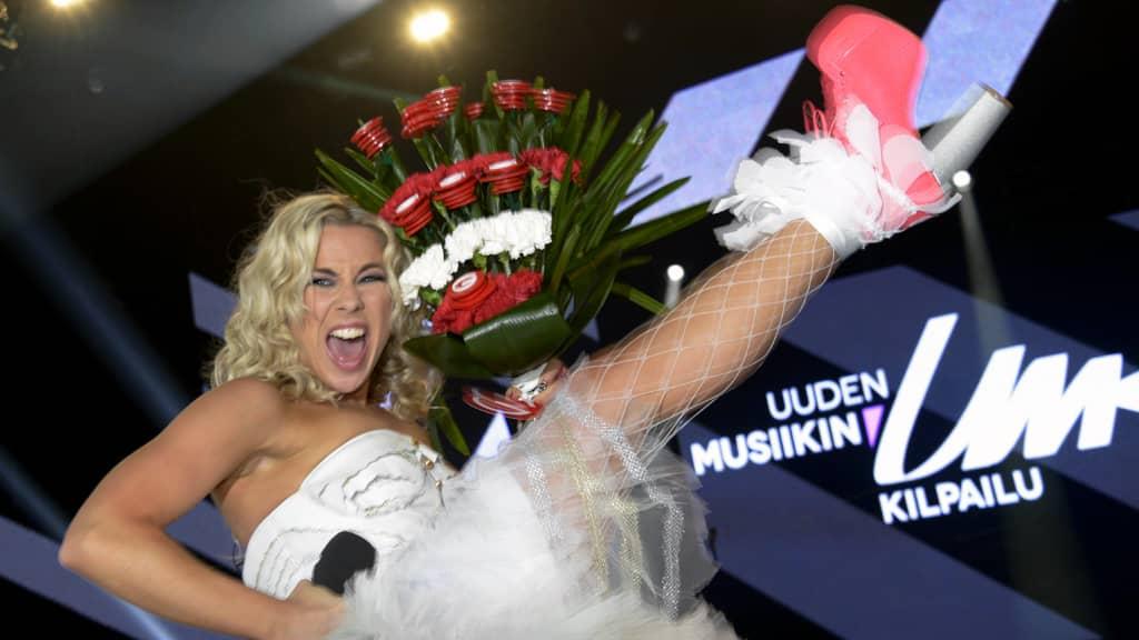 Uuden Musiikin kilpailun voittaja Krista Siegfrids.