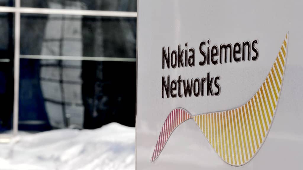 Nokia Siemens Networksin logo Espoossa.