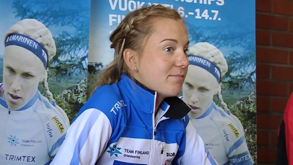 suunnistus MM-kisa Vuokatti Sofia Haajanen