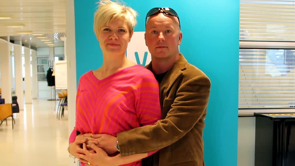Tanssinopettajat Anna ja Mika Väisänen.