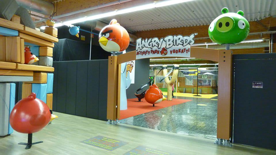 Vuokatin Angry Birds -puiston portti