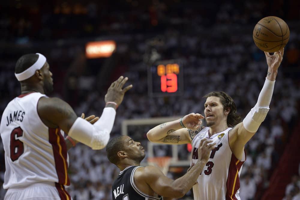 Miami Heatin ja San Atnonio Spursin välinen kuudes NBA-finaali.