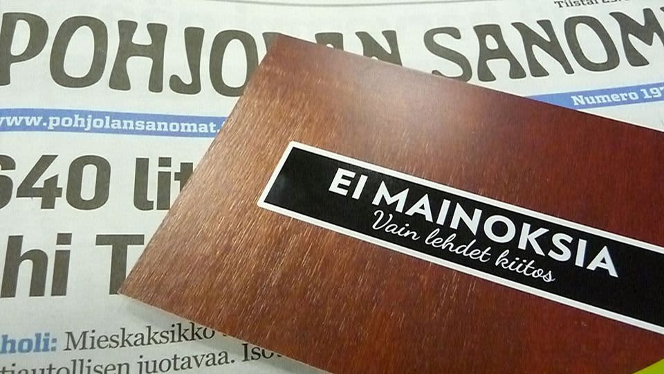 Sanomalehden mukana tullut kampanjakortti mainoslehtiä vastaan